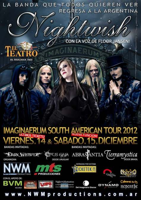 NIGHTWISH : Pro-Shot Footage From Buenos Aires